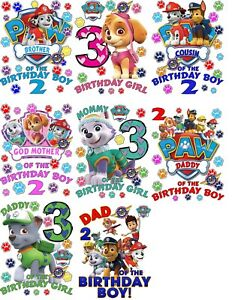 Image Is Loading Paw Patrol Shirt Custom Birthday Shirts Personalized T