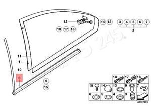 Genuine-BMW-E46-Coupe-Weatherstrip-Quarter-Window-OEM-51368194741