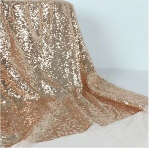 Champagne-Sequin-Fabric-Sparkly-Shiny-Bling-Material-Cloth-130cm-Wide-1-metre