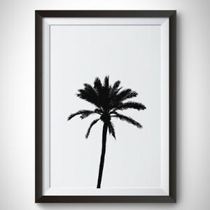 Palm Tree Art A4 Paper Quote Poster Print Home Decor Ebay