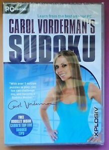 CAROL VORDERMAN'S SUDOKU PC CD-ROM PUZZLE GAME brand new & sealed UK ORIGINAL !