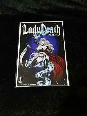 Lady Death Treacherous Infamy #1 Black and White Premier Edition Coffin Comics