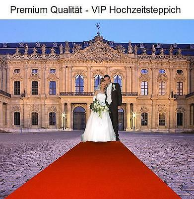 Premium Hochzeits Roter teppich Velour VIP 130x700 cm rot