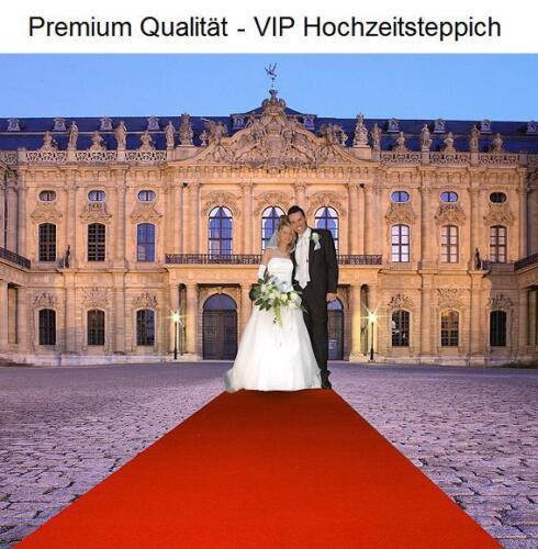 Premium Hochzeits Roter teppich Velour VIP 200x500 cm rot