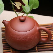 Teapot 600ml big tea pot xishi zisha pots Pu'er pot marked handmade pot carved