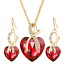 Women-Heart-Pendant-Choker-Chain-Crystal-Rhinestone-Necklace-Earring-Jewelry-Set thumbnail 33