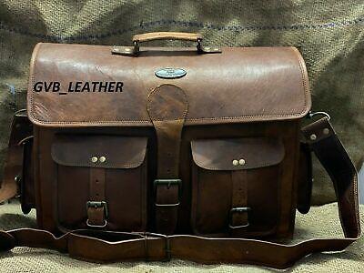 NEW Men/'s Leather Bag Business Messenger Laptop Shoulder Briefcase satchel Brown
