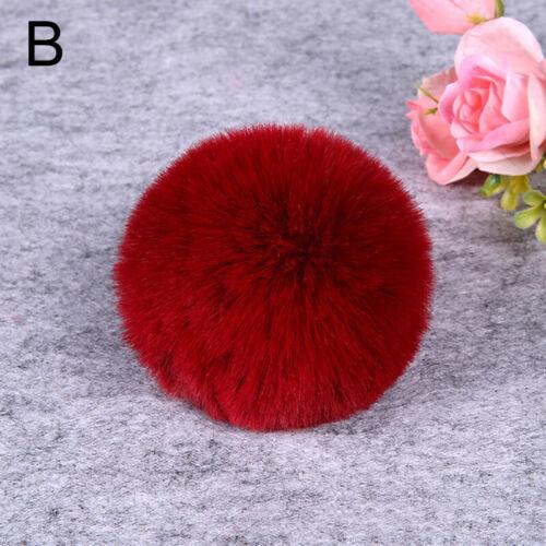 3Pcs DIY Fluffy Faux Fox Fur Pom Pom Pompon Ball Hat Bag Keyring Accessories 8cm