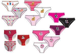 d03b9bc686bf8 Details zu verschiedene Kinder Mädchen 3 er Pack Unterwäsche Set Slips  Unterhosen Höschen
