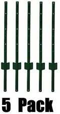 5 pack Midwest Air Tech 901150A 6 ft Light Duty U Style 14 ga Steel Fence Posts