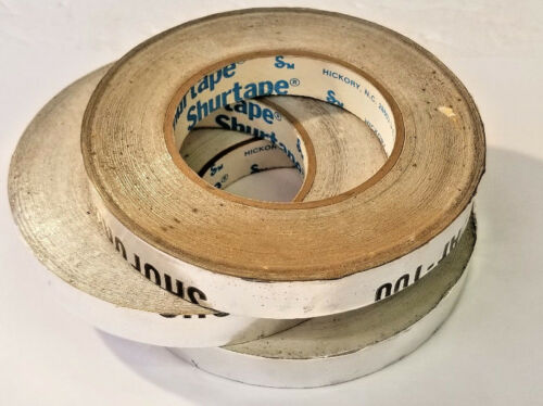 "34"" x 34 Yards Foil Tape, Adhesive Backed, Shurtape USA Overruns, 3 Rolls"