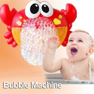 Musical Crab Bubble Machine Bubble Maker Baby Children Bath Bathtub Shower To