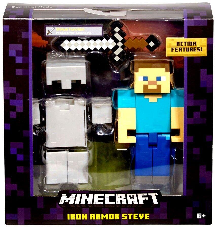 Modo de súpervivencia Minecraft Steve Figura De Acción De Armadura Iron