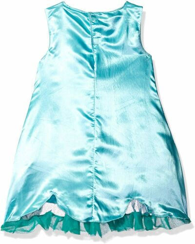 NEW Trolls Poppy Dress Costume Fits Girls Size 4-6 Blue Dress Up Halloween