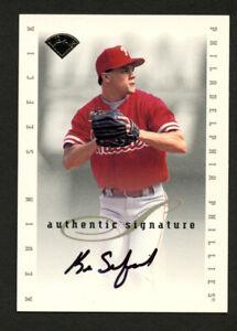 Kevin-Sefcik-signed-autograph-1996-Donruss-Leaf-Authentic-Signature-Series