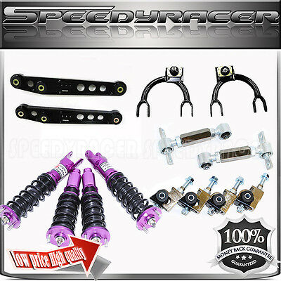 Upper Front Rear Camber Kits Coilover Suspension 88-91 Civic 90-93 Integra