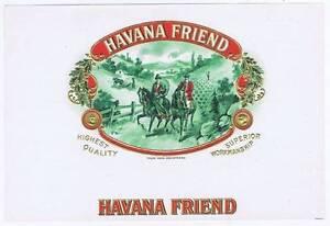 Havana Friend Cigare Label Hommes sur Chevaux SE29f1uR-09092034-391370923