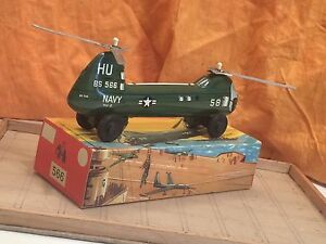 Tin Toy BLOMER & Students Navy Helicopter