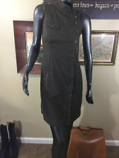 Women's NAU Size 2 Button Down Sleeveless Wool Brown Tweed Short Dress