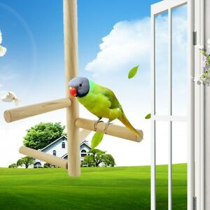 For-Bird-Cage-Stand-Parrot-Pet-Wood-Hanging-Stand-Rack-Parakeet-Branch-Rest-Rack