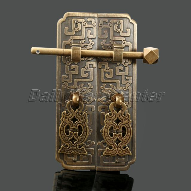 Antique Chinese Style Cabinet Lock Latch Door Furniture Hardware Pull  Handle Use | eBay - Antique Chinese Style Cabinet Lock Latch Door Furniture Hardware