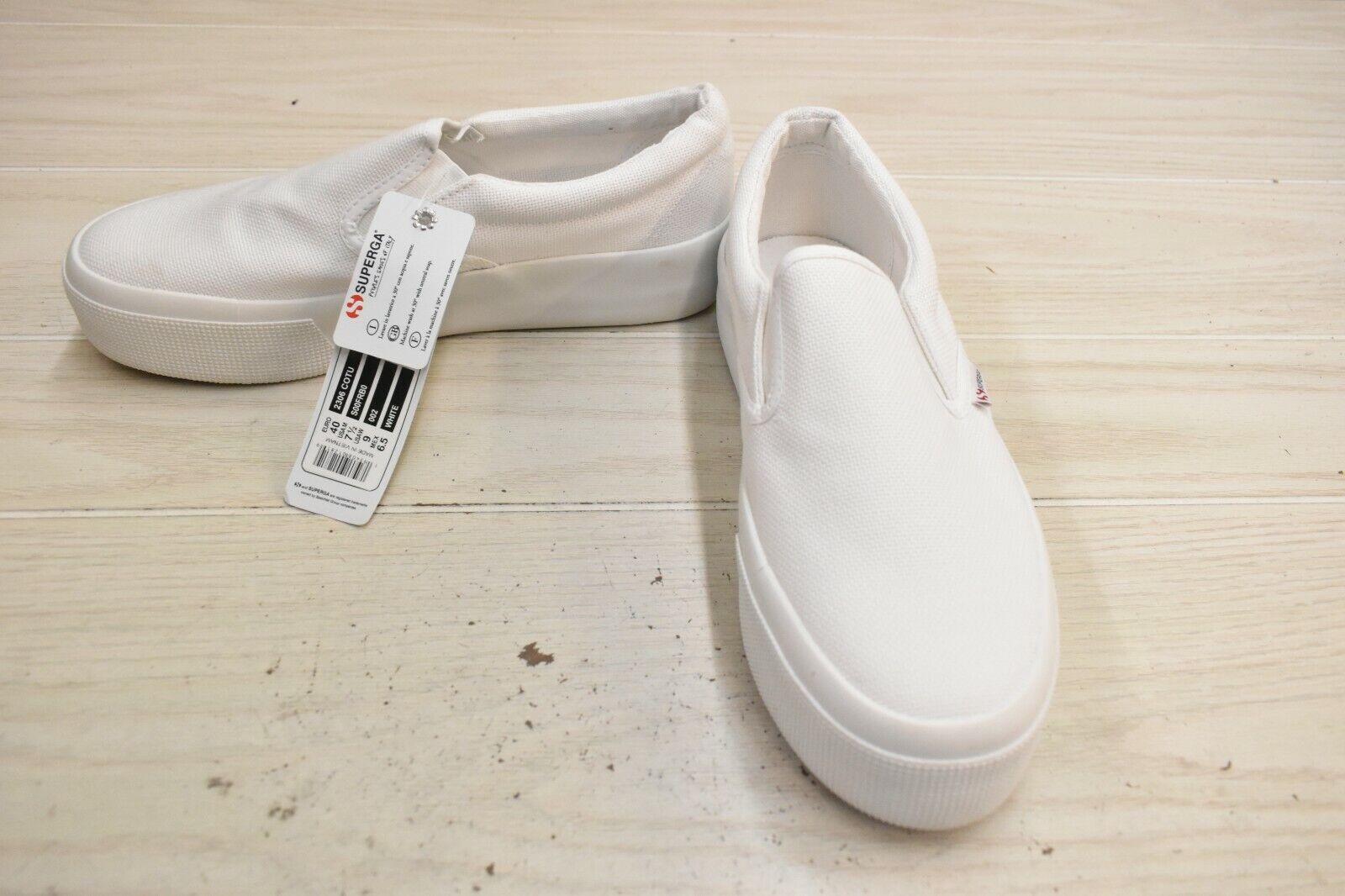 Superga 2306 COTU Slip On Sneaker, Women's 9 / Men's 7.5 / EU 40, White NEW