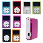 Mini USB Clip MP3 Music Player LCD Screen Support 16GB Micro SD TF Card
