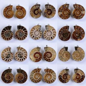 Natural-Druzy-Ammonite-Fossil-Jewelry-Sets-Shell-Gemstone-Pendants-Earring-Ring