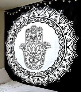Indian Mandala Tapestry Fatima Hand Hamsa Wall Hanging