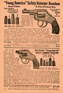 1926 small Print Ad of Miniature Blank Rifle Blank Pistol .25 Auto Pistol