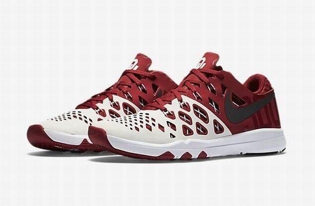NEW NIKE Train Speed 4 Amp Oklahoma U Sneakers Mens 12.5 M Red White shoes