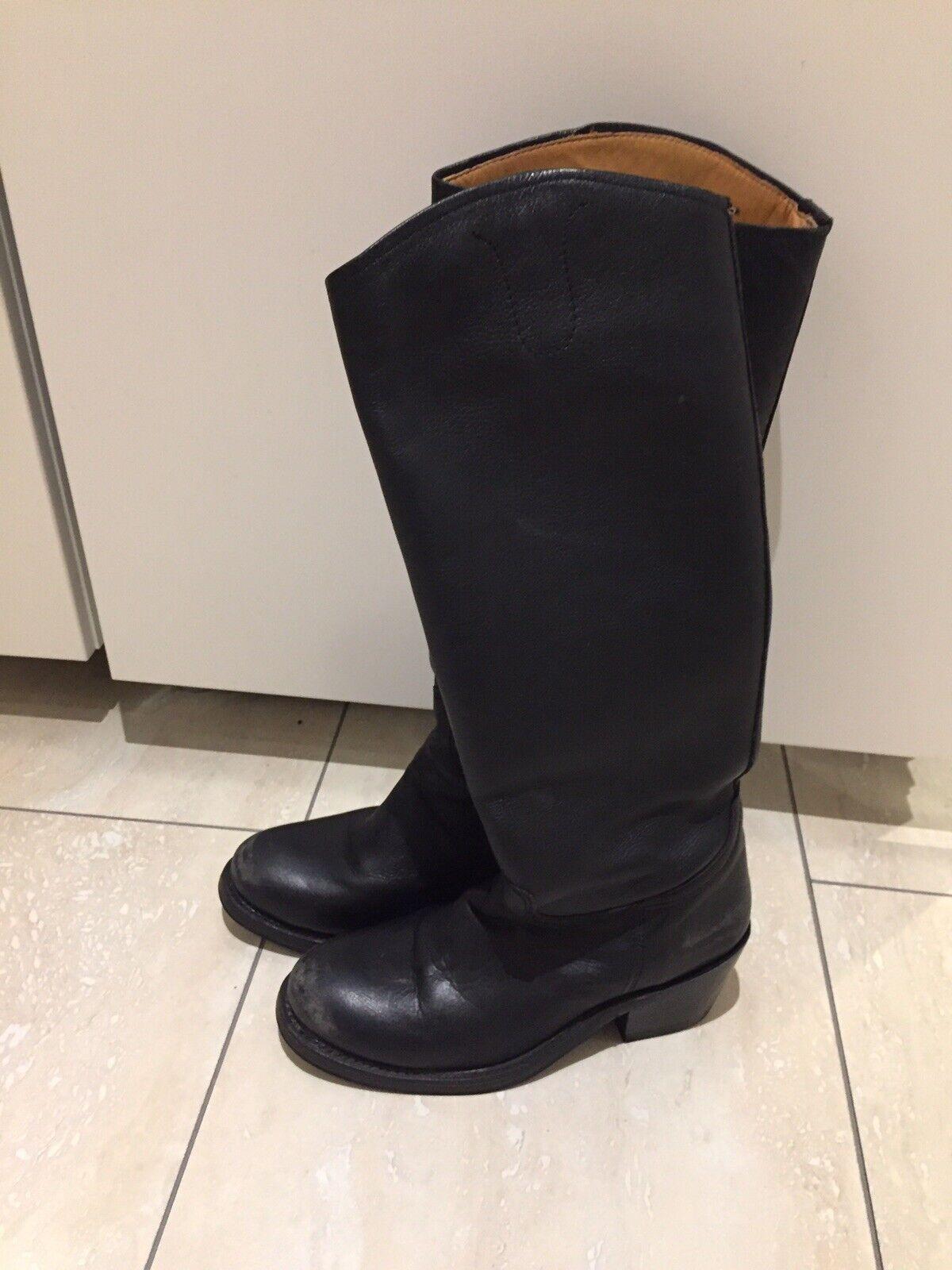 ASH noir longueur genou bottes 37