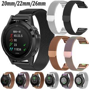 Details about Milanese Magnetic Watch Band Strap Bracelet For Garmin Fenix  5 5S Plus 5X Plus