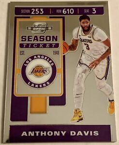 2019-20 Panini Contenders Optic Basketball Anthony Davis Season Ticket Base Card