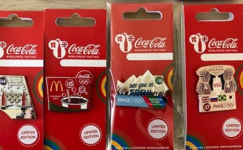LONDON 2012 OLYMPICS COCA COLA DAY OF THE GAMES DAY 17 CLOSING CEREMONY PIN