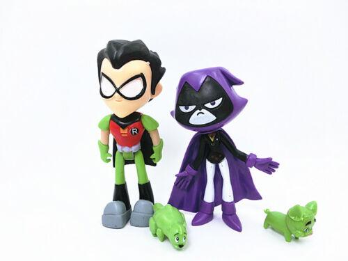 7Pcs//Set Teen Titans PVC Action Figures Go Robin Cyborg Raven Beast Boy For Kids