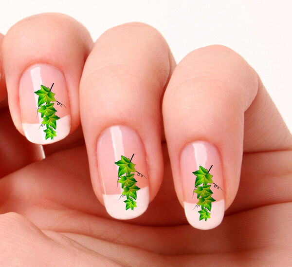 20 Nail Art Decals Transfers Stickers #31 - Ivy leaves