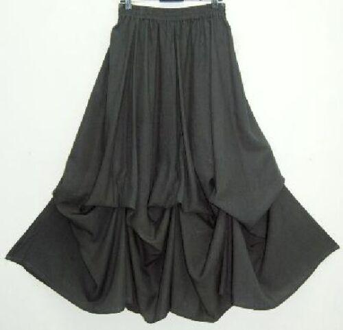 gray skirt balloon lagenlook OS M L XL 1X 2X 3X 4X one size plus size
