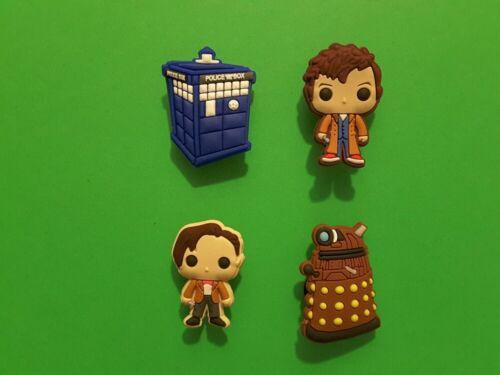 4pcs 2D PVC Shoe Charms Doctor Who similaire à jibbitz pour crocs