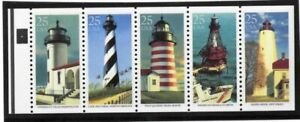 US-Stamps-2474a-25c-Lighthouse-Pane-4-XF-OG-NH