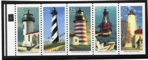 USA-TIMBRES-N-2474-A-25-C-Phare-vitre-4-XF-ORIGINAL-GUM-jamais-a-charniere