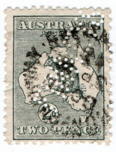I-B-Australia-Postal-Kangaroo-2d-Finneys-perfin