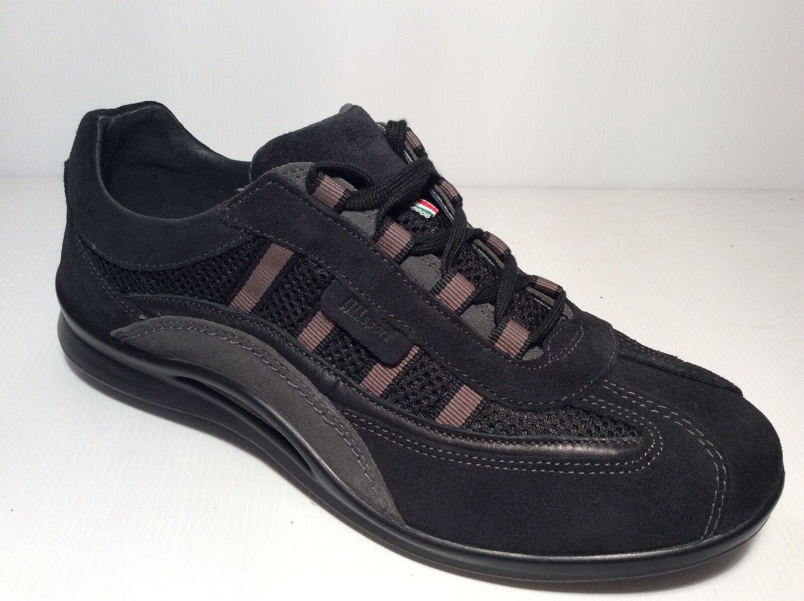 schuhe grauPORT IN CAMOSCIO herren LACCI ART 8409 COL schwarz schwarz schwarz  Made in  f027e6
