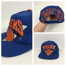 VTG 90s Snapback New York Knicks NBA Hat Front Back Script Streetwear Logo