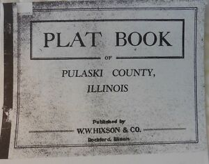 GENEALOGY ILLINOIS PLAT MAP PULASKI COUNTY