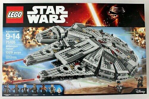 LEGO Star Wars Millennium Falcon with 75105. NEW, SLIGHT WEAR TO BOX.