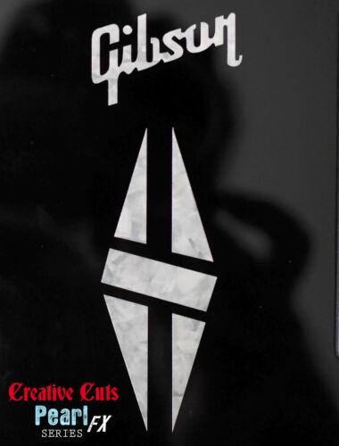 Gibson /& Split Diamond Headstock Decal MOP Vinyl Sticker Inlay more options