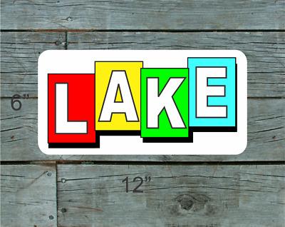 VINTAGE ANTIQUE Style Metal Sign Miles Lake Tahoe Ski 12x12