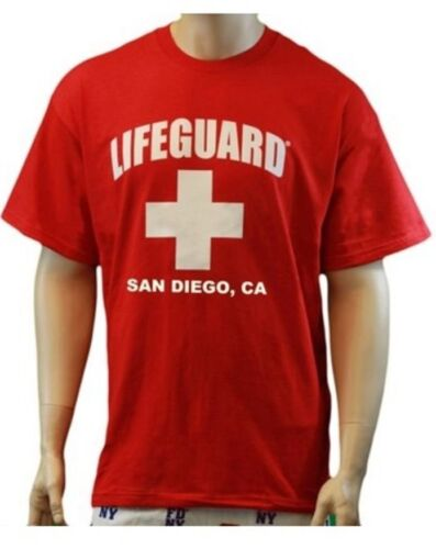 Lifeguard San Diego California T-shirt Official Life Guard Tee Red