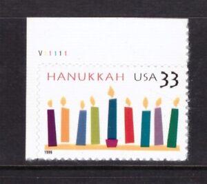USA Estados Unidos estampillada sin montar o nunca montada 1999 Hanukkah Menta sello auto-adhesivo Cilindro
